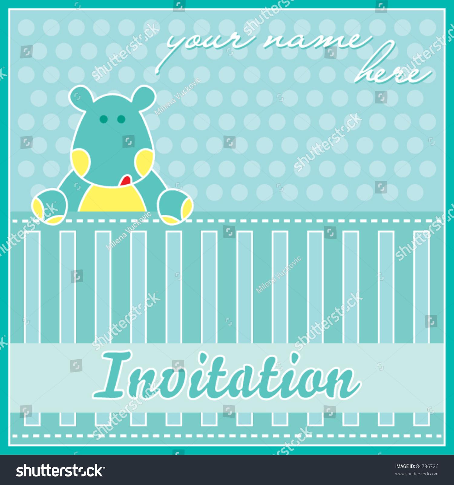 Template Frame Design Birthday Party Invitation Stock Vector ...