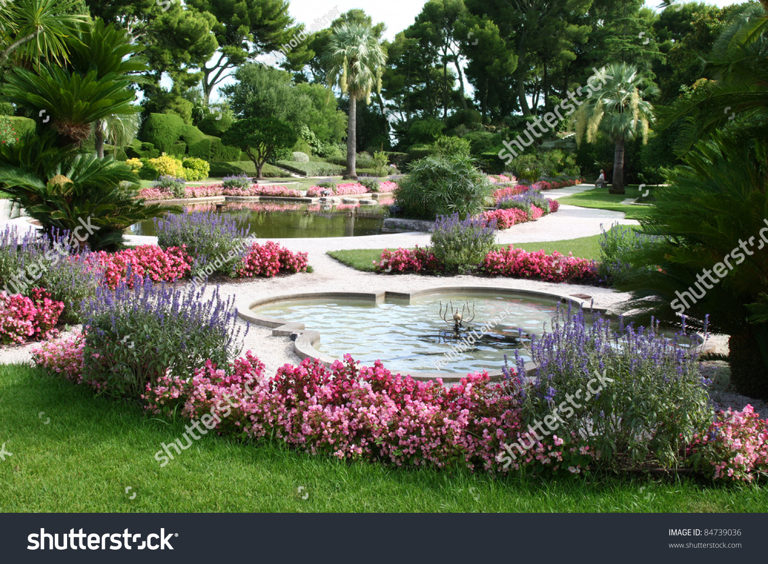 Beautiful Garden Pond Stock Photo 84739036 Shutterstock