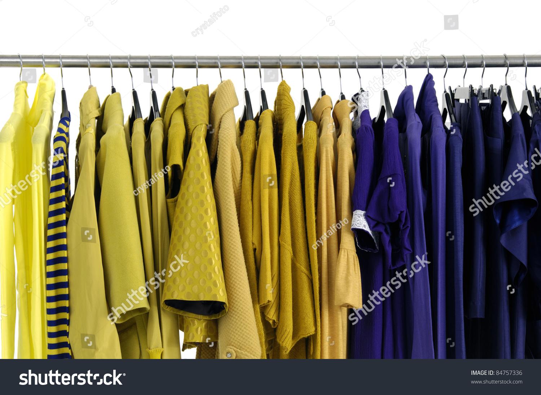 Line designer fashion autumnwinter clothes rack stock - Designer clothes rack ...
