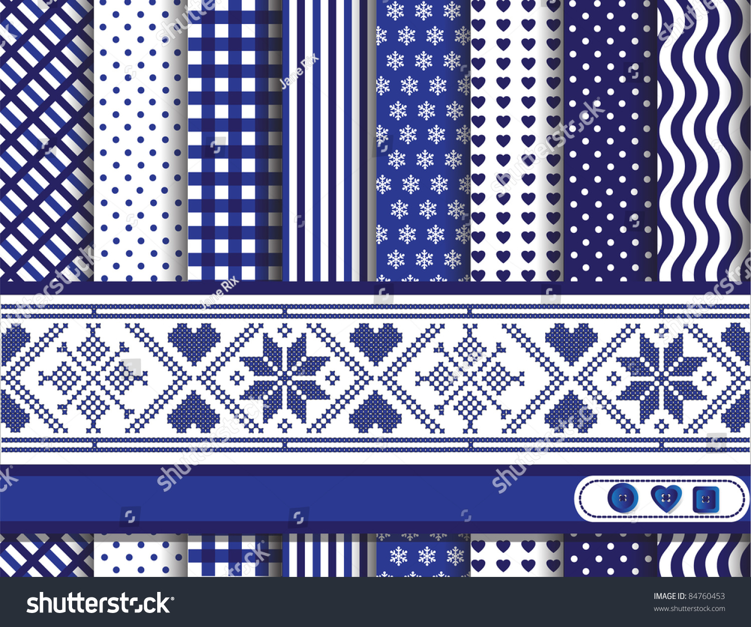 christmas digital scrapbooking paper swatches blue stock vector
