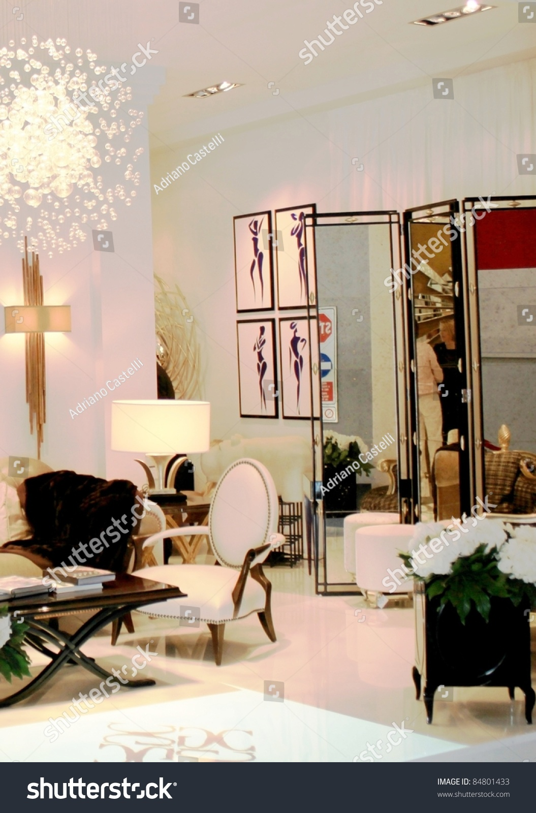 Milan april 15 closeup interior design stock photo 84801433 shutterstock for International interior design exhibition