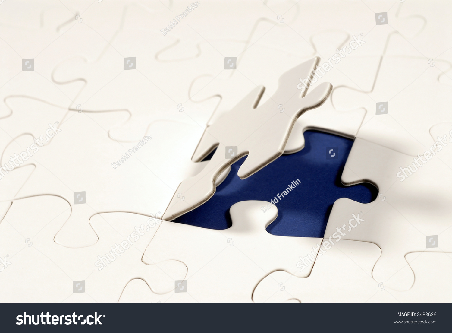Jigsaw Puzzle Missing Piece White Copy Stock Photo Royalty Free 8483686