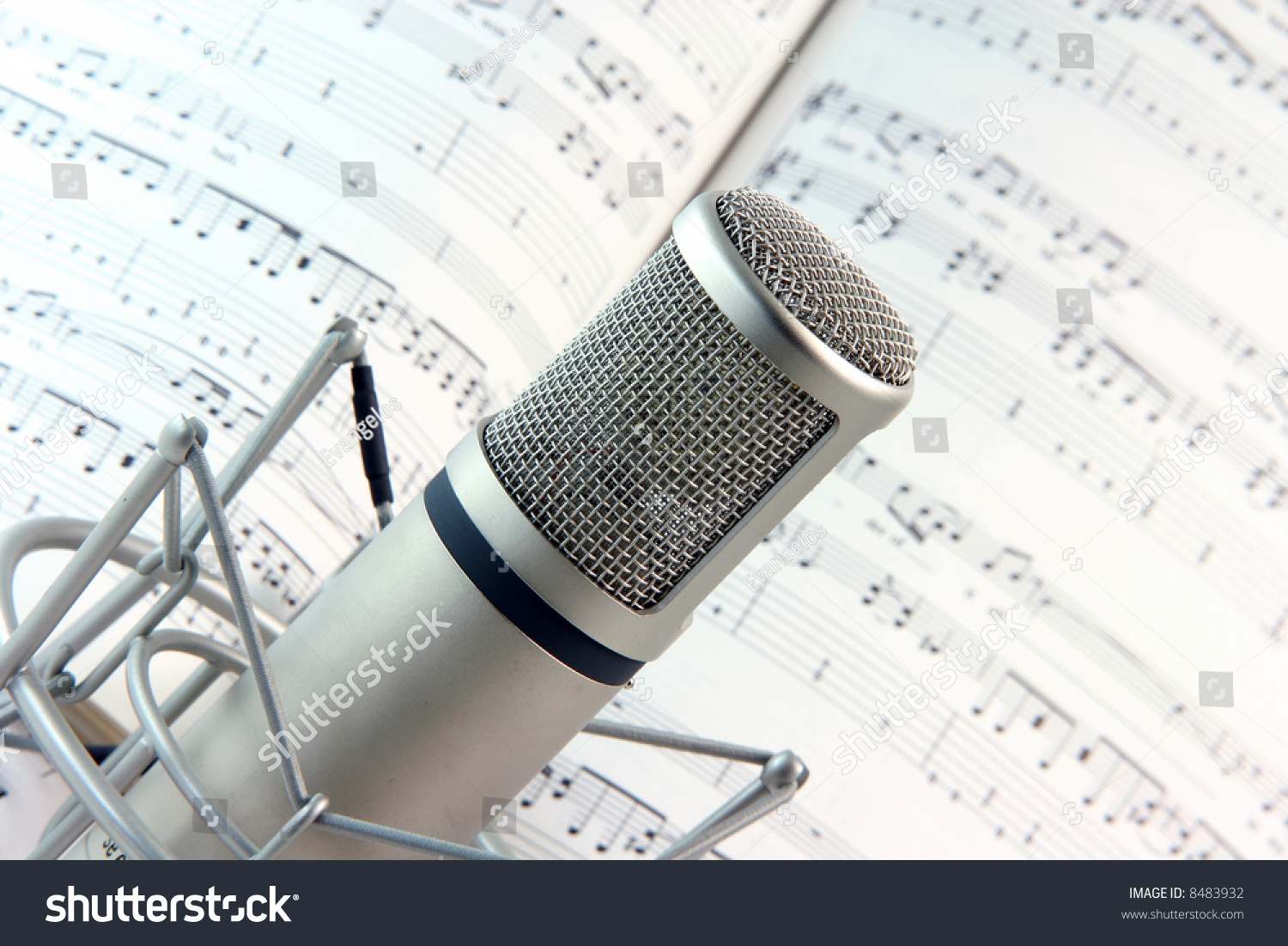 Lyrics Background Music Recording Microphone Studio Stockfoto Jetzt