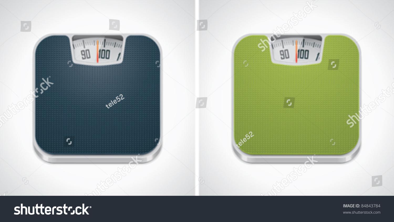 Vector Bathroom Weight Scale Icon Stock Vector 84843784 ...