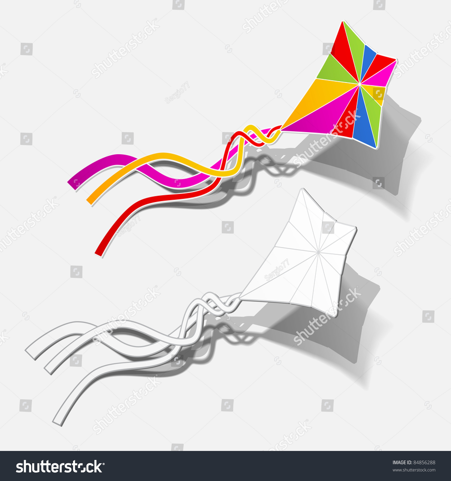 Eps10 kite hobby game fly free stock vector 84856288 shutterstock eps10 kite hobby game fly free outdoor up wind sticker realistic shadow design element biocorpaavc