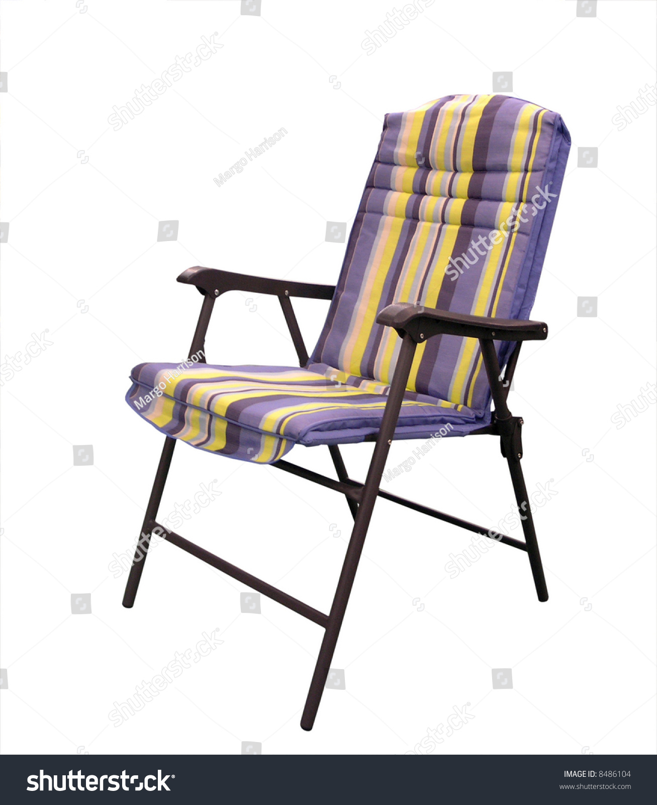 Folding Padded Patio Chair Stock Shutterstock