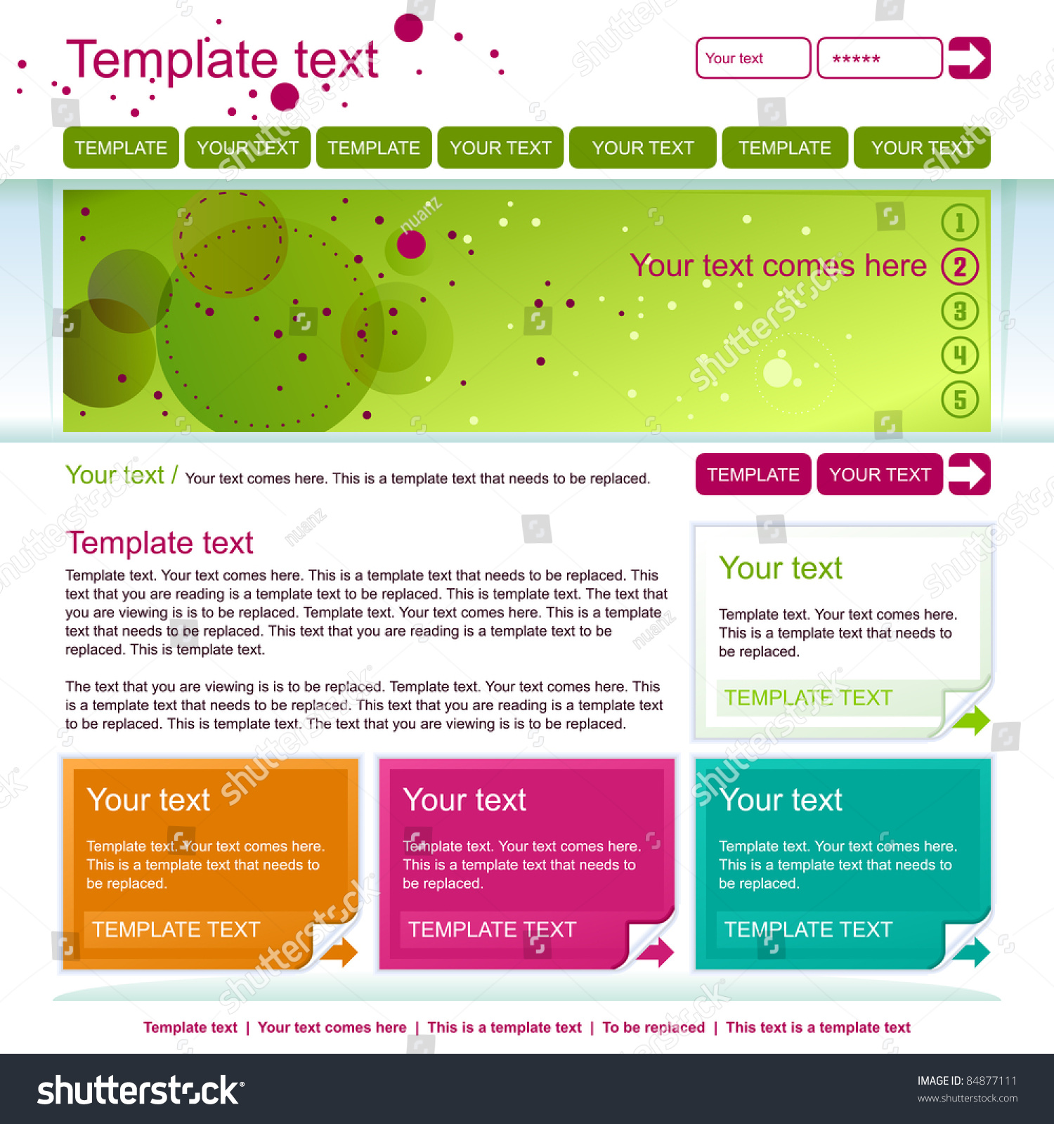 Minimalistic green web page layout design stock vector for Web page architecture
