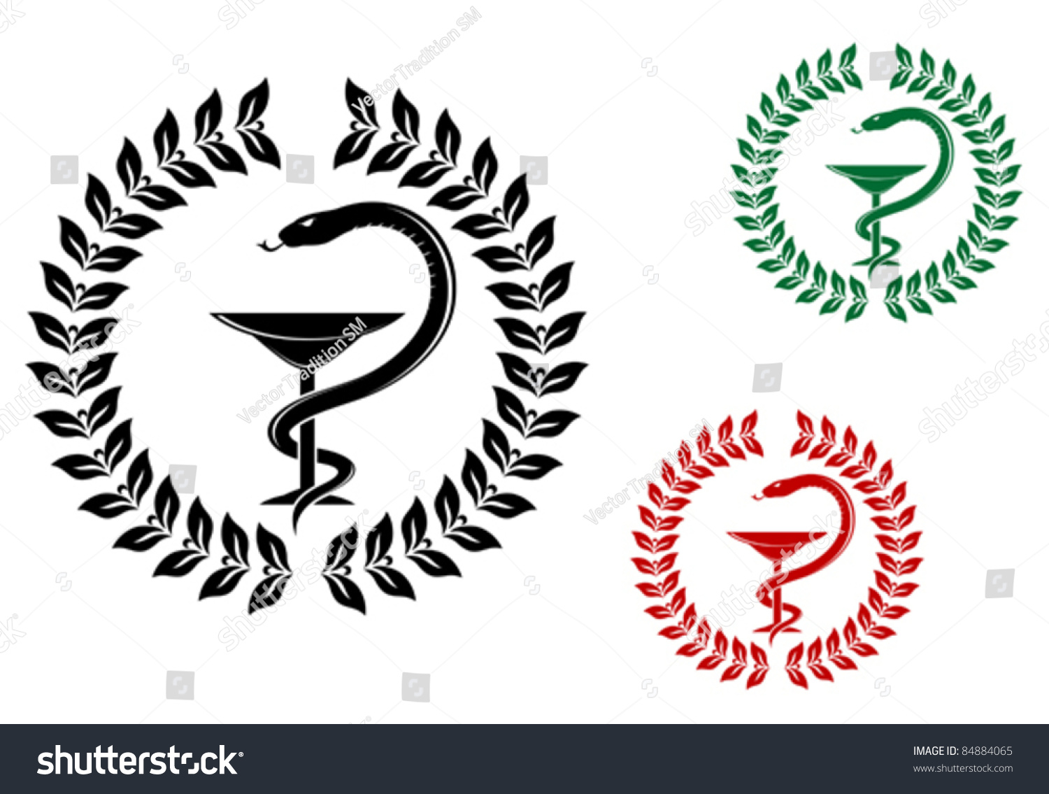 Medicine symbol snake on cup laurel stock vector 84884065 medicine symbol snake on cup in laurel wreath such a logo rasterized version buycottarizona Image collections