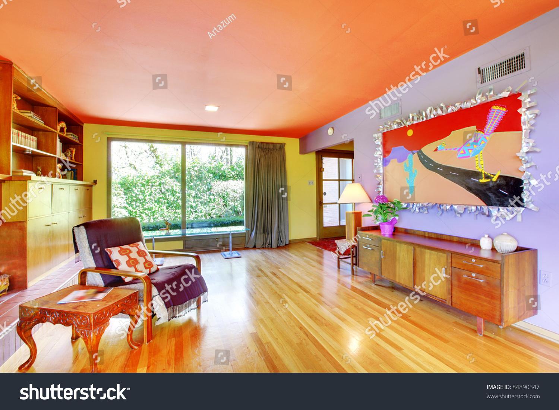 colorful retro interior design stock photo 84890347 - shutterstock