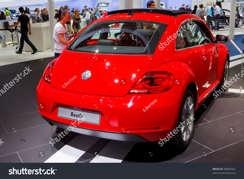 frankfurt sep 17 volkswagen beetle car shown at the 64th internationale automobil ausstellung. Black Bedroom Furniture Sets. Home Design Ideas
