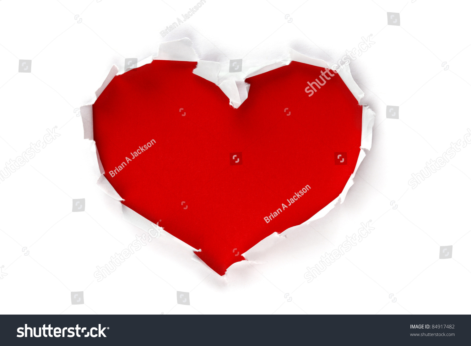 White torn paper heart shape symbol stock photo 84917482 white torn paper in heart shape symbol over red background for message biocorpaavc