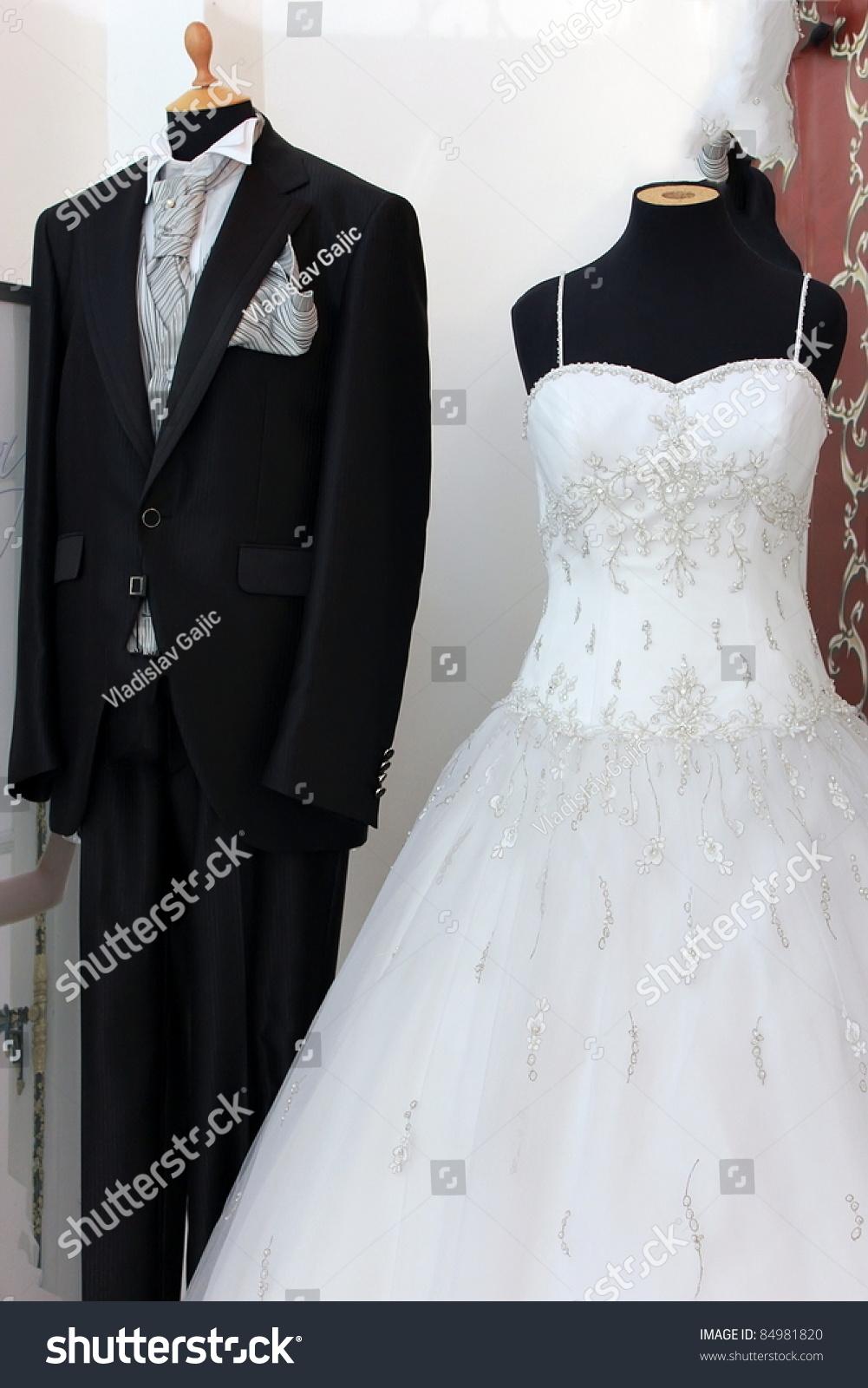 Men Suite White Wedding Dress Stock Photo (Edit Now) 84981820 ...