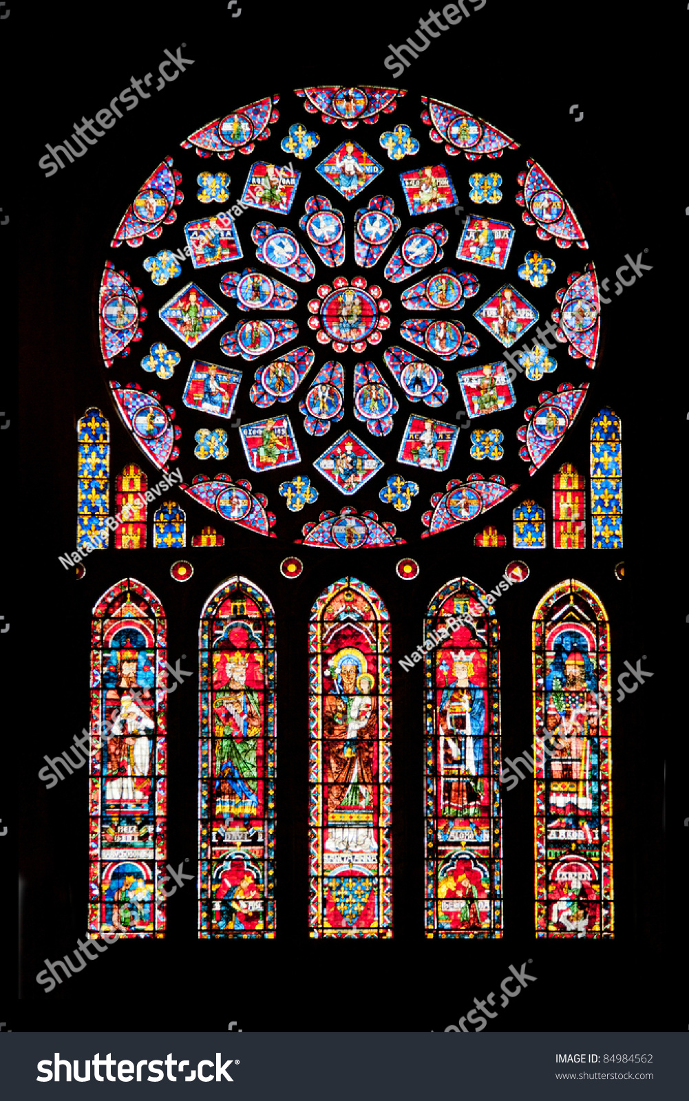 vitrages of famous notre dame cathedral in chartres. Black Bedroom Furniture Sets. Home Design Ideas