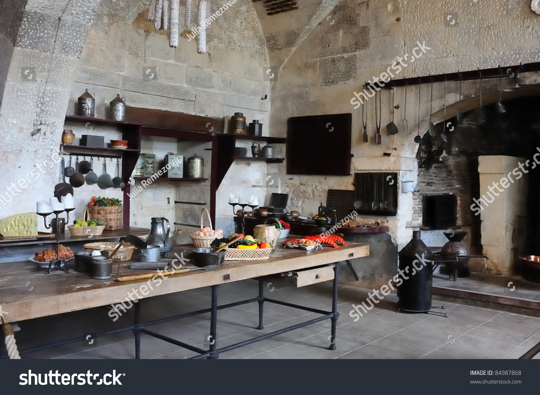 Old Kitchen Old Kitchen Castle Valencay France Loire Stock Photo 84987868