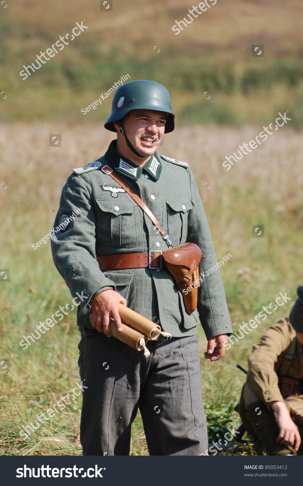 German Soldier Ww2 Reenactment Kievukraine Stock Photo ...