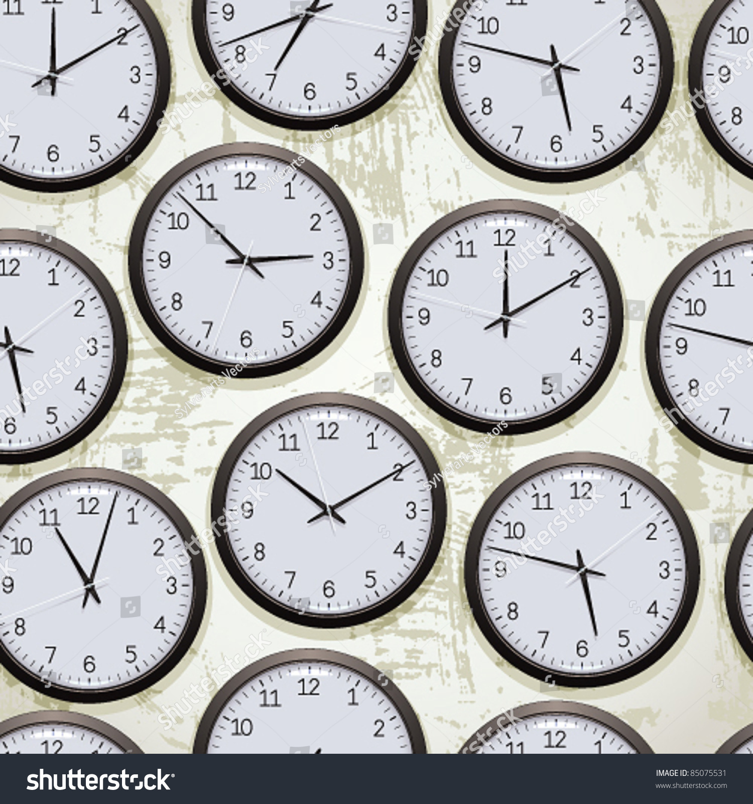 Watches seamless pattern clocks on wall stock vector 85075531 watches seamless pattern clocks on the wall showing different time vector background amipublicfo Gallery