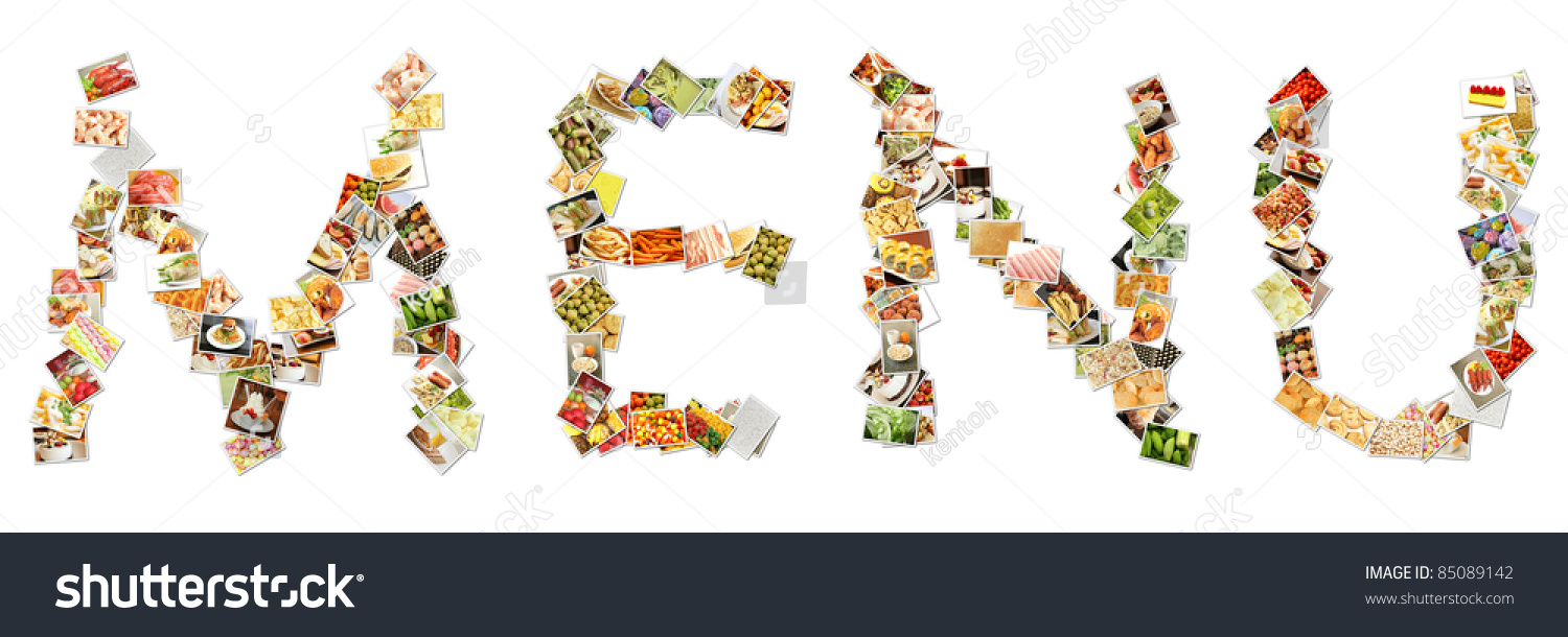 food menu collage letters alphabet stock illustration 85089142 food menu collage in letters of alphabet