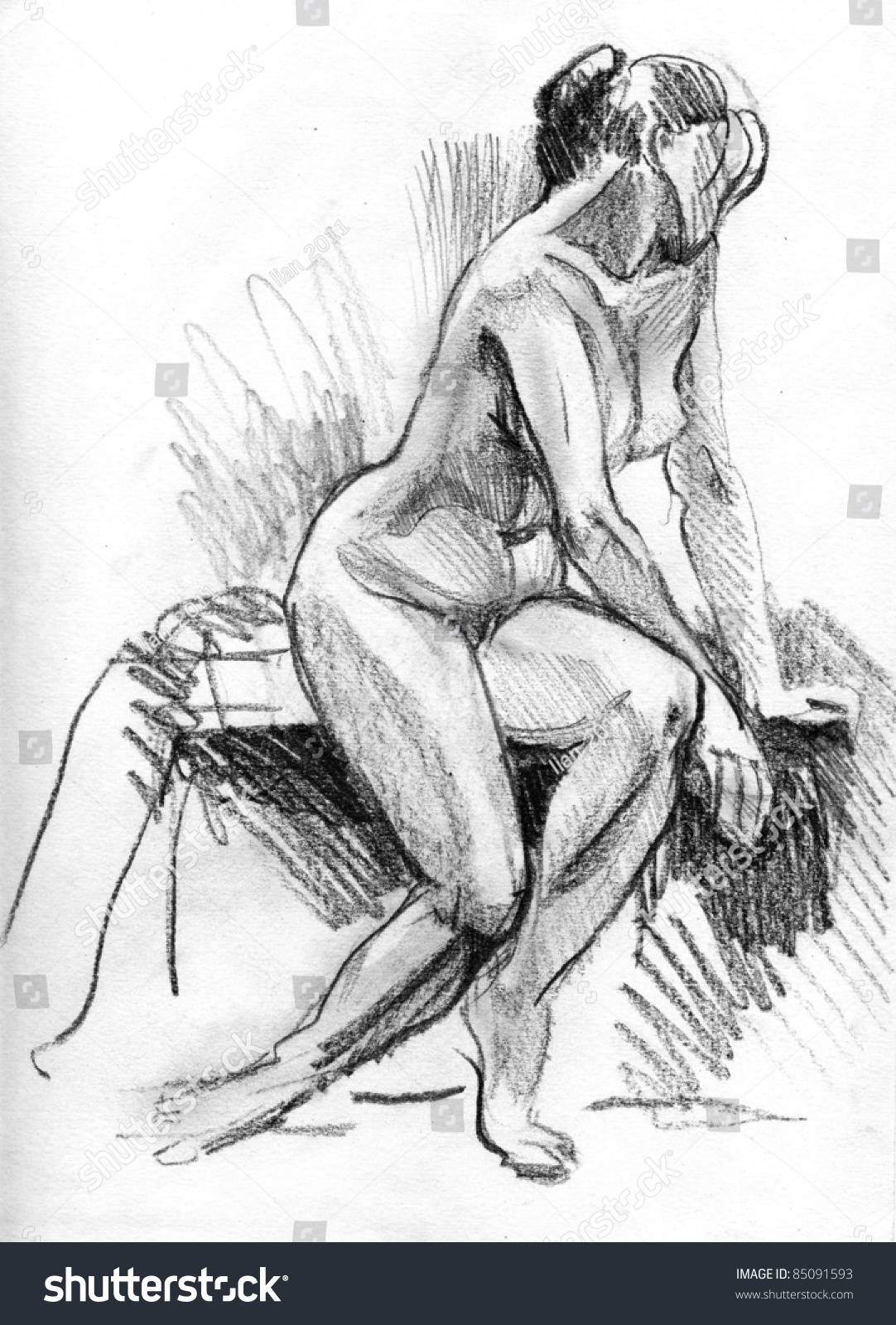 Drawing of topless girls — img 3