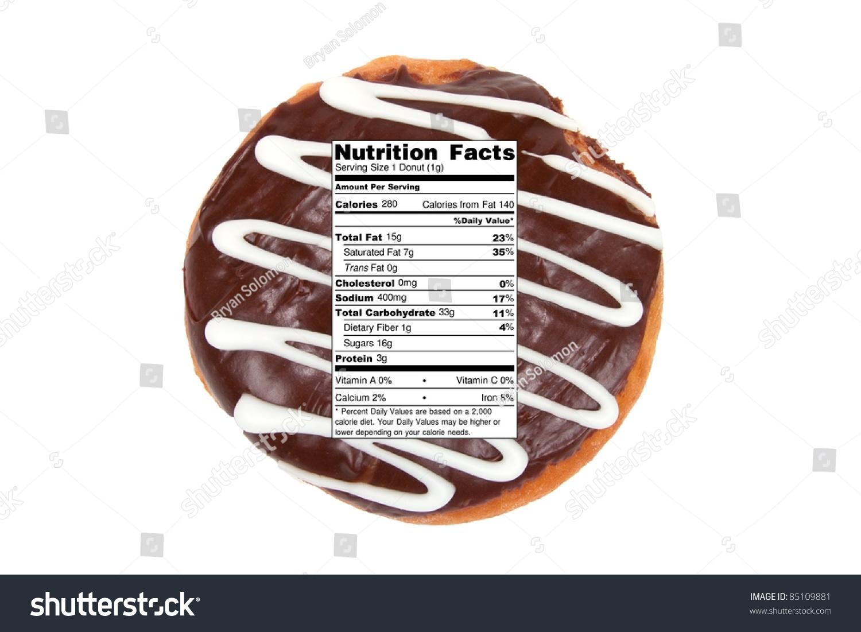 diet nutrition concept chocolate donut nutrition stock photo (edit