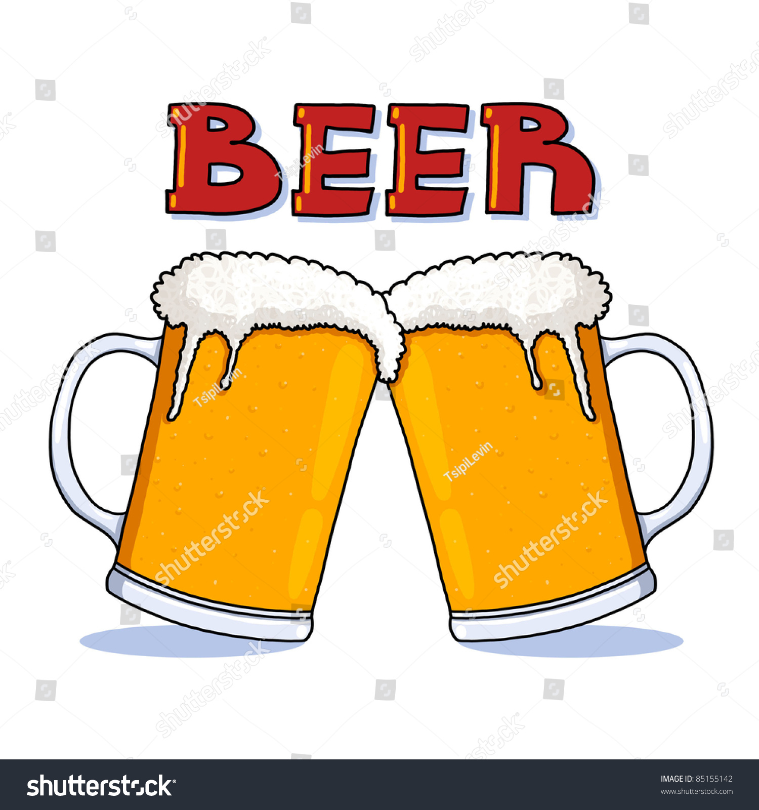 Beer Glass Illustration Beer Mugs Freehand Stock Illustration 85155142 - Shutterstock Animated Beer Cheers