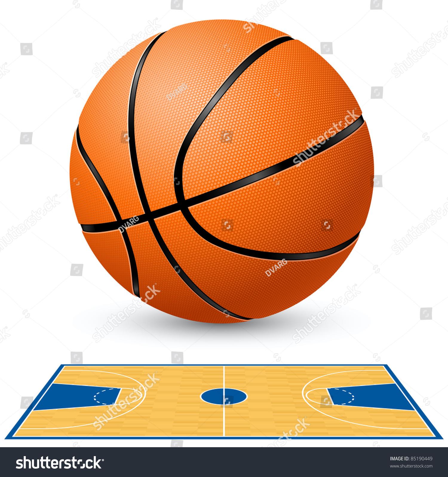 Basketball basketball court floor plan illustration stock for Basketball floor layout