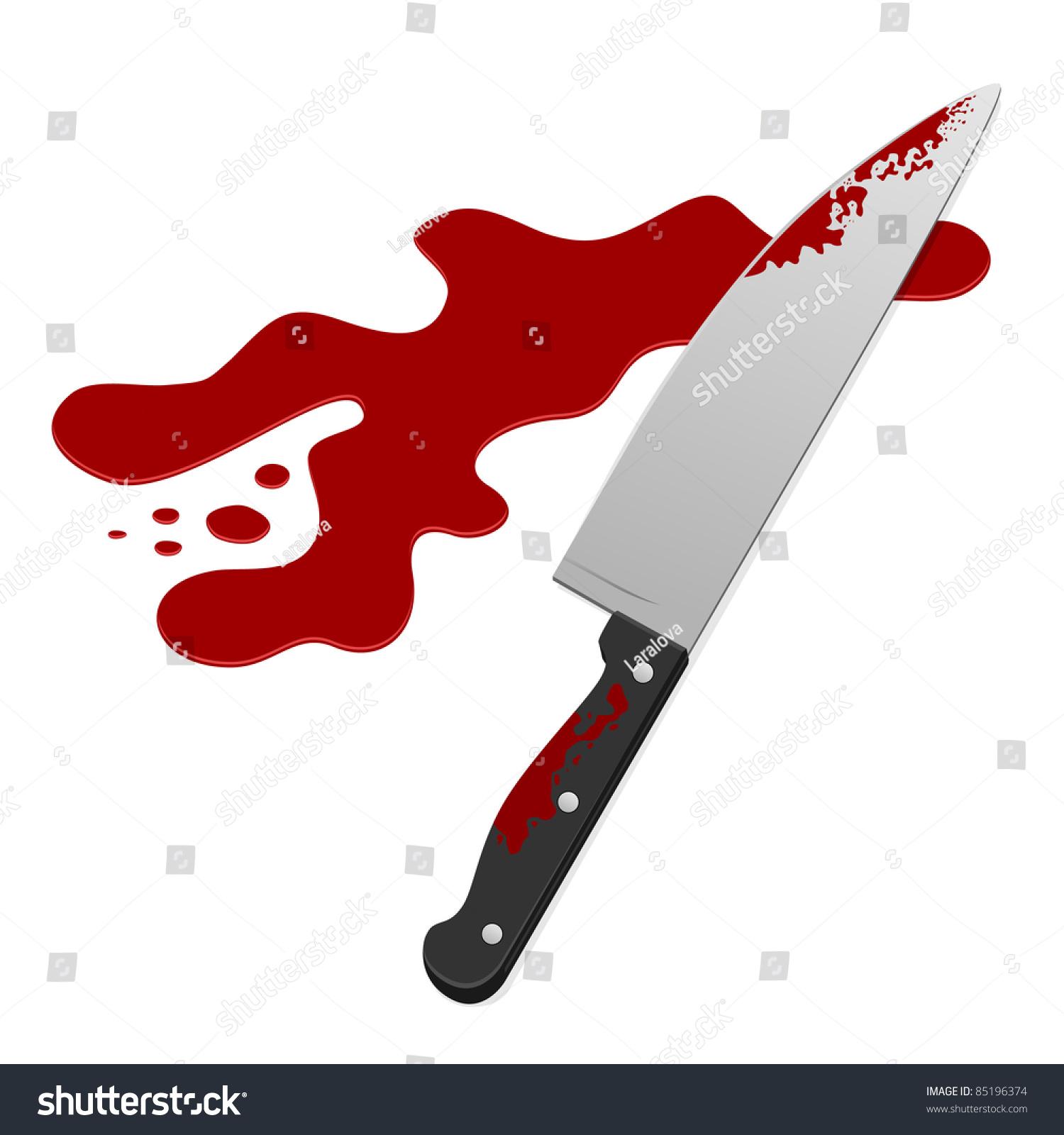 Knife Blood Vector Illustration Stock Vector 85196374