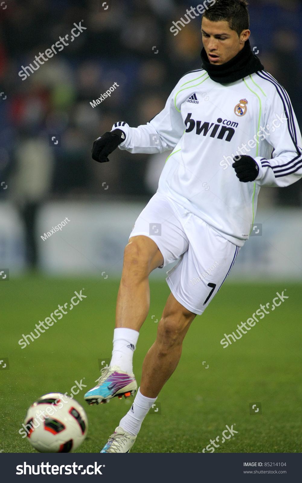 f6fdb2af8 BARCELONA - FEB 13  Cristiano Ronaldo of Real Madrid before a spanish  league match between Espanyol and Real Madrid at the Estadi Cornella on  February 13