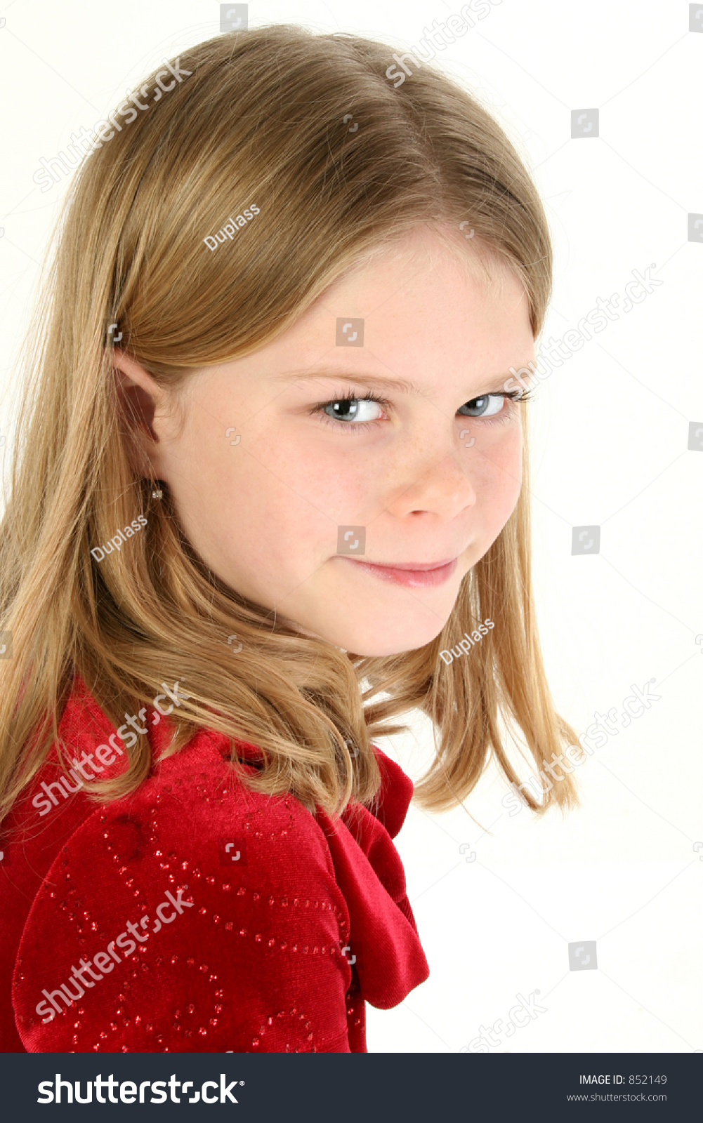 Beautiful 10 Year Old Girl Red Stock Photo 852149 - Shutterstock