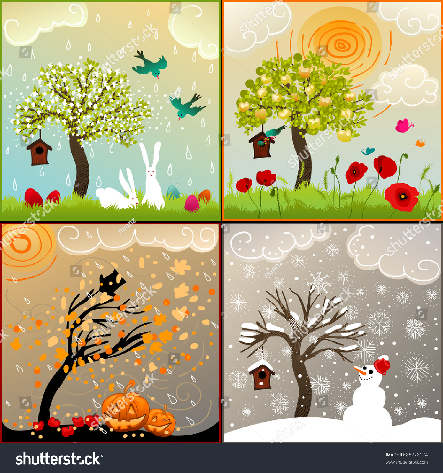 the four seasons lessons tes teach