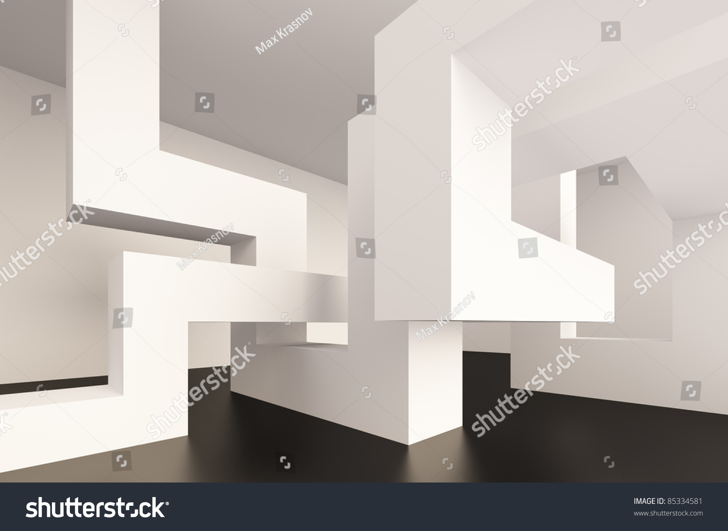 Abstract Interior Design Stock Illustration 85334581 ...