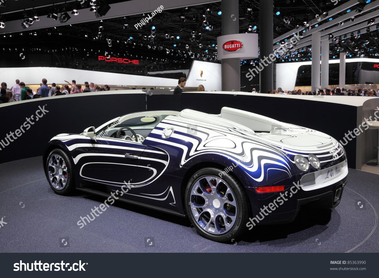 frankfurt sept 24 new bugatti veyron stock photo 85363990 shutterstock. Black Bedroom Furniture Sets. Home Design Ideas