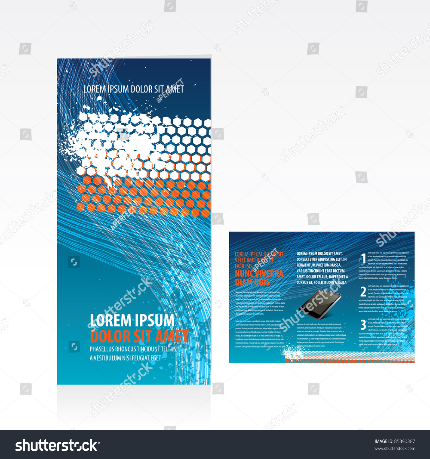 Tri fold business brochure template stock vector royalty free tri fold business brochure template accmission Image collections