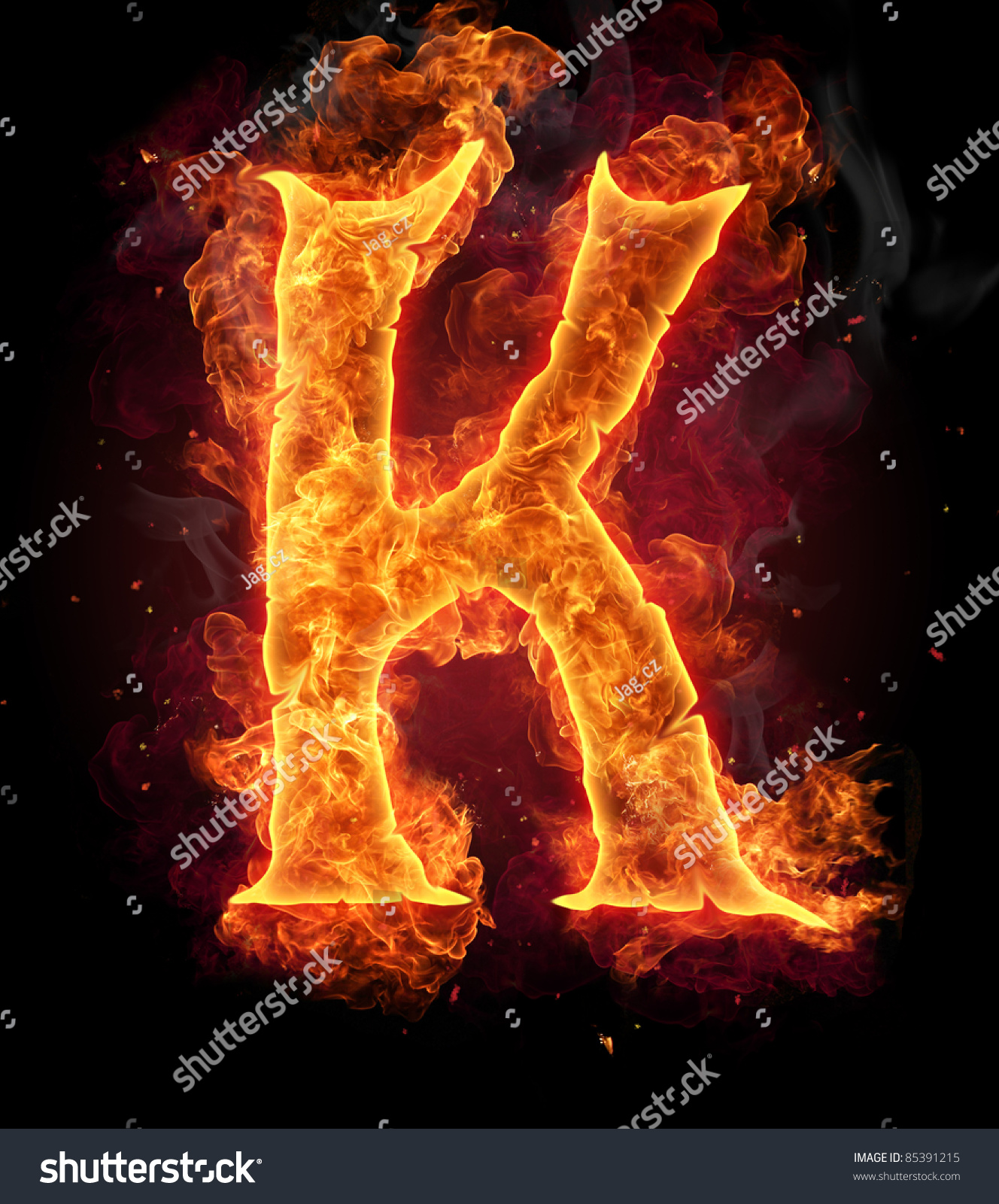 Logo In Fire Sto...K Logo In Fire