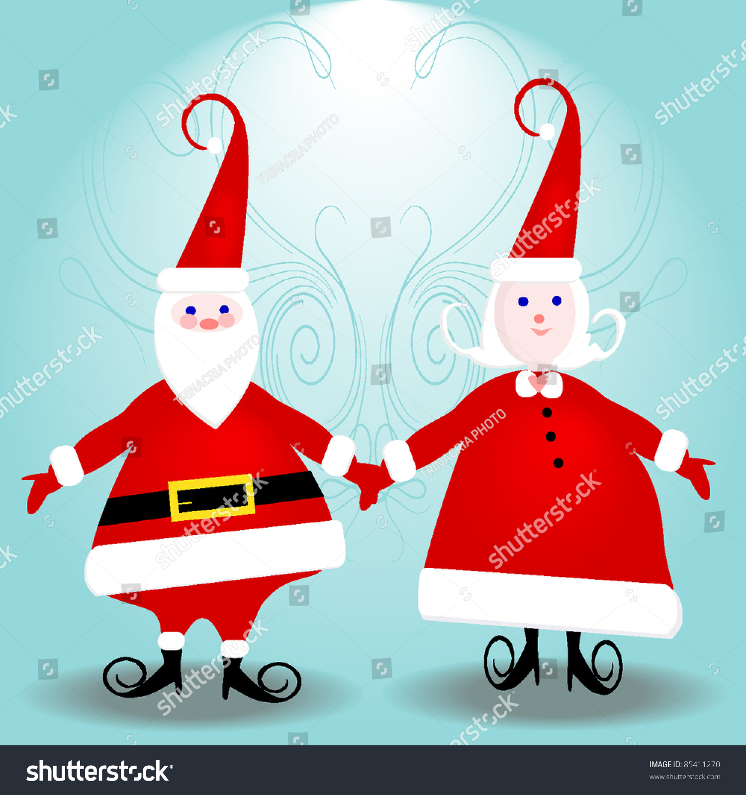 mr mrs santa claus ready your stock vector 85411270 shutterstock