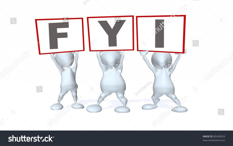 3d Men Holding Your Information Sign Stock Illustration ...