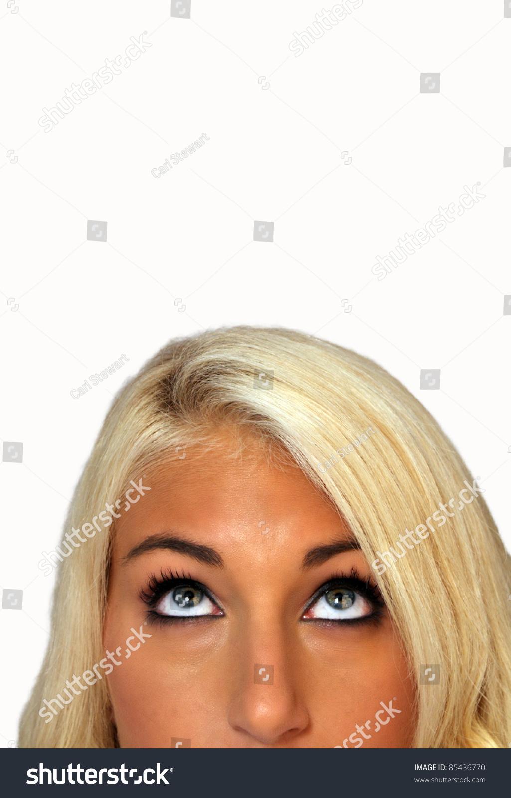 Closeup Extraordinarily Beautiful Young Blonde Looking Stock Photo ...