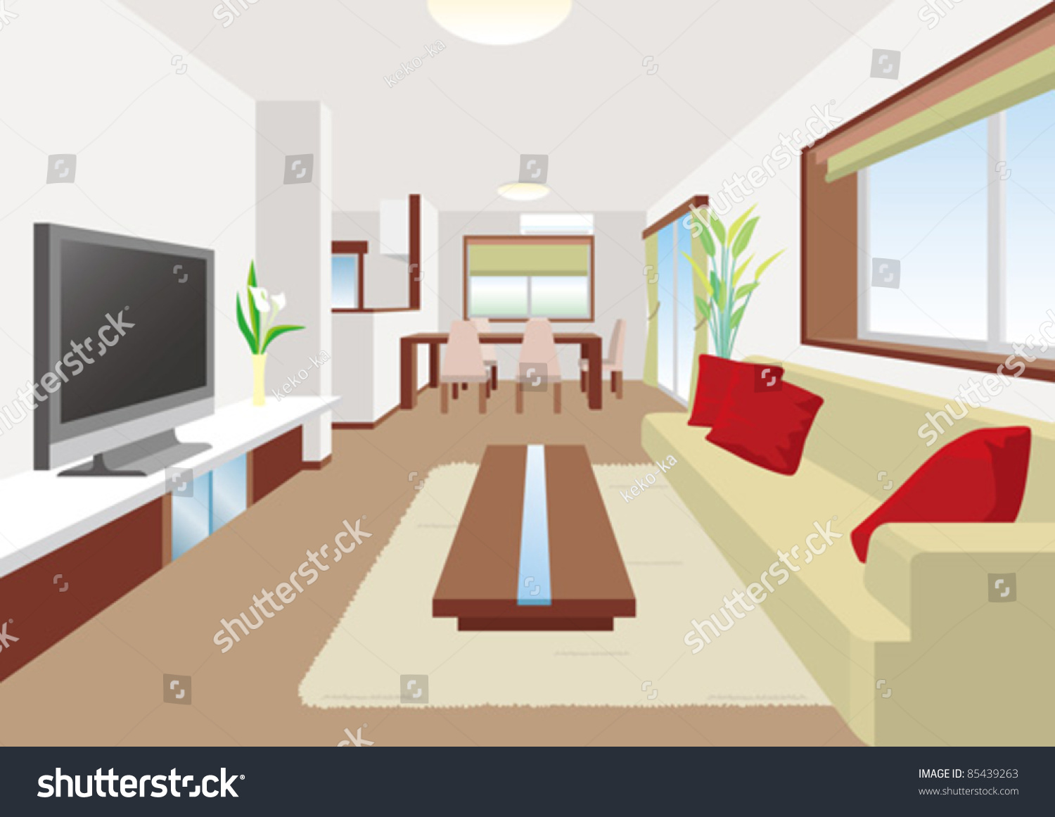 Living room stock vector 85439263 shutterstock for Living room clipart