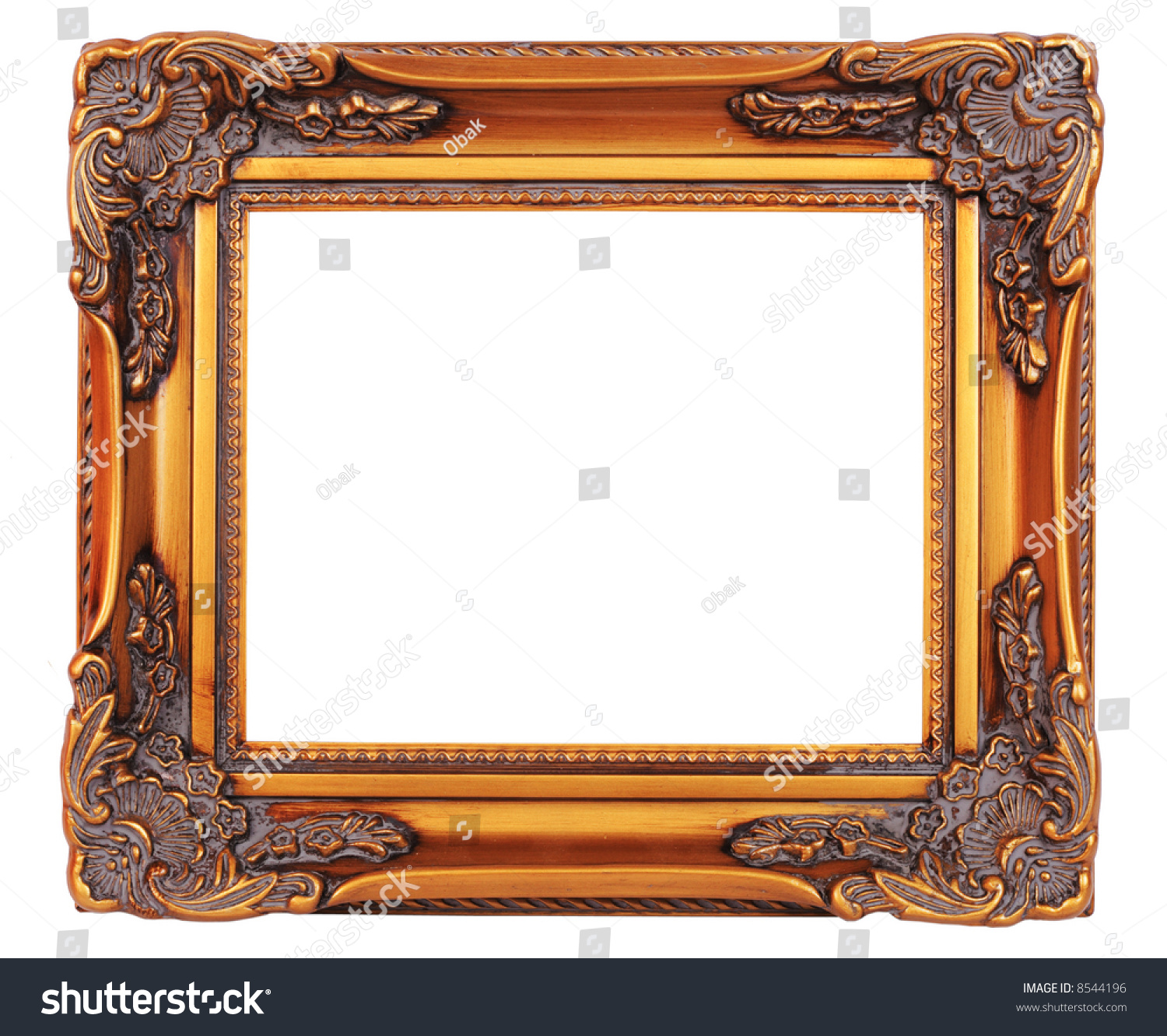 Old Fashionedgold Plated Wooden Picture Frame Stock Photo (Edit Now ...