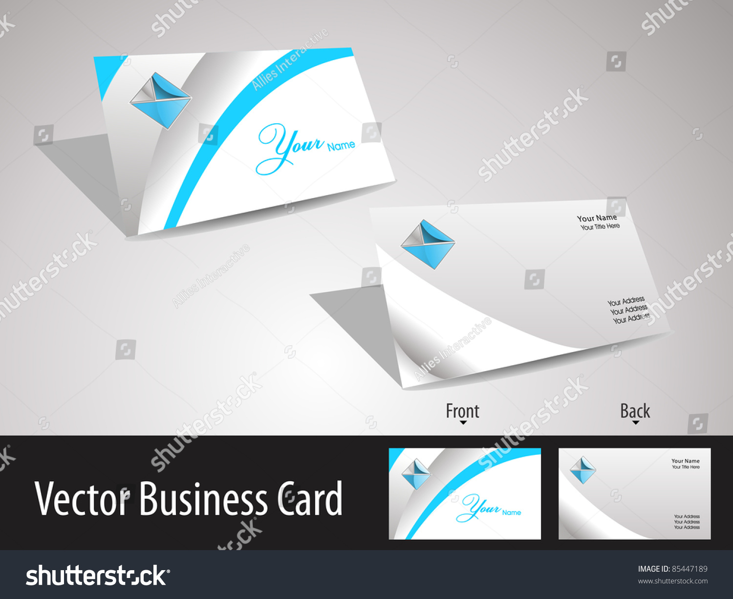 Collection Corporate Business Cards Professionals Stock Vector ...