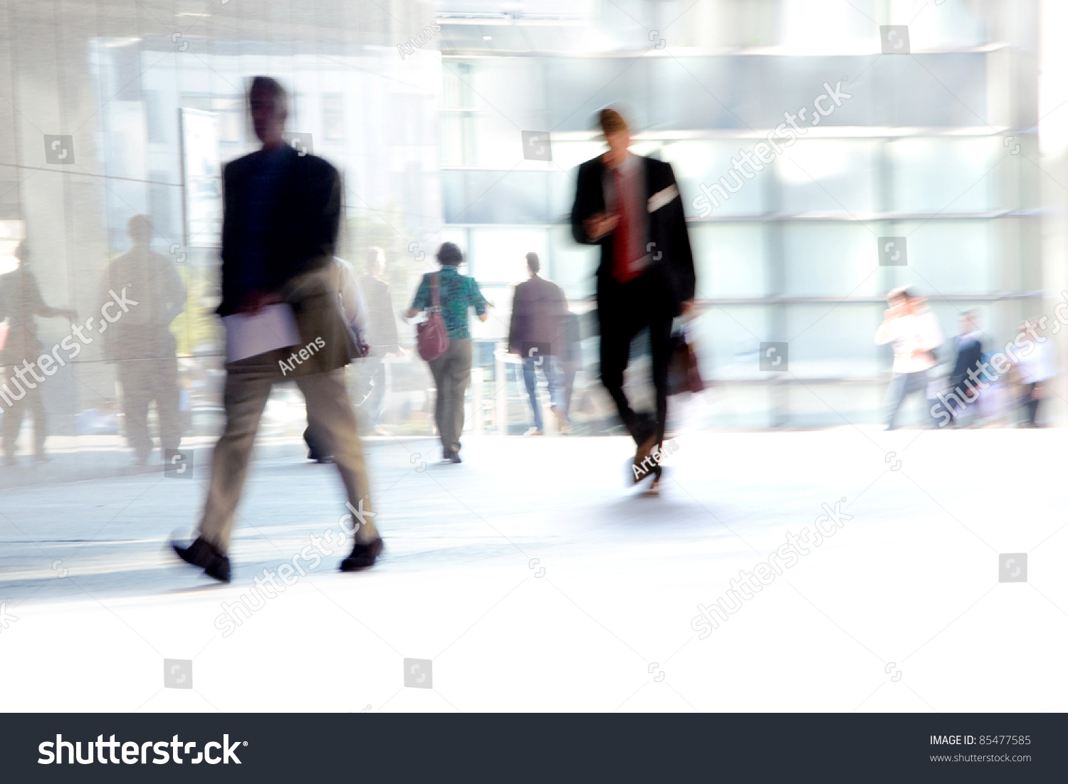 Fast Paced Business World Blurred Motion Stock Photo ...