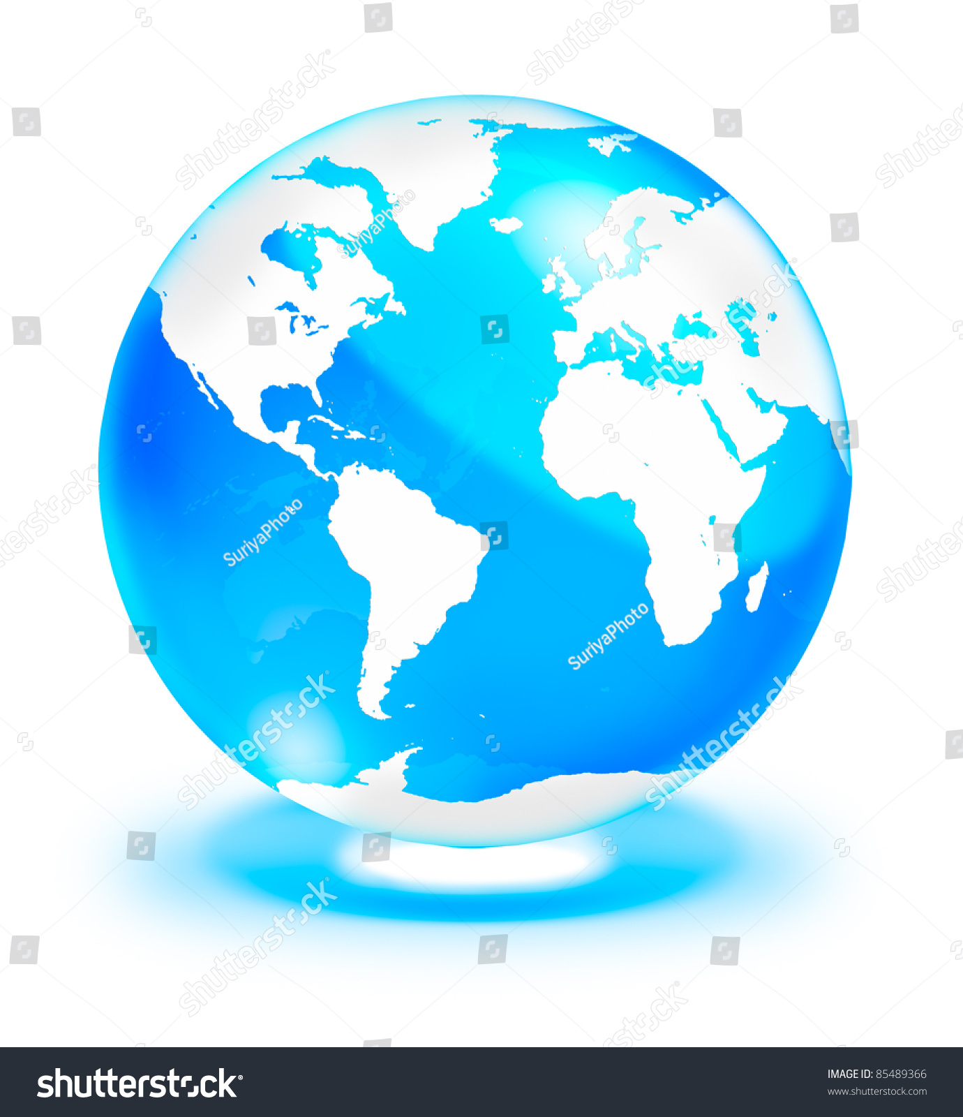 Crystal clear globe world map isolated stock illustration 85489366 crystal clear globe with world map isolated on white background gumiabroncs Gallery