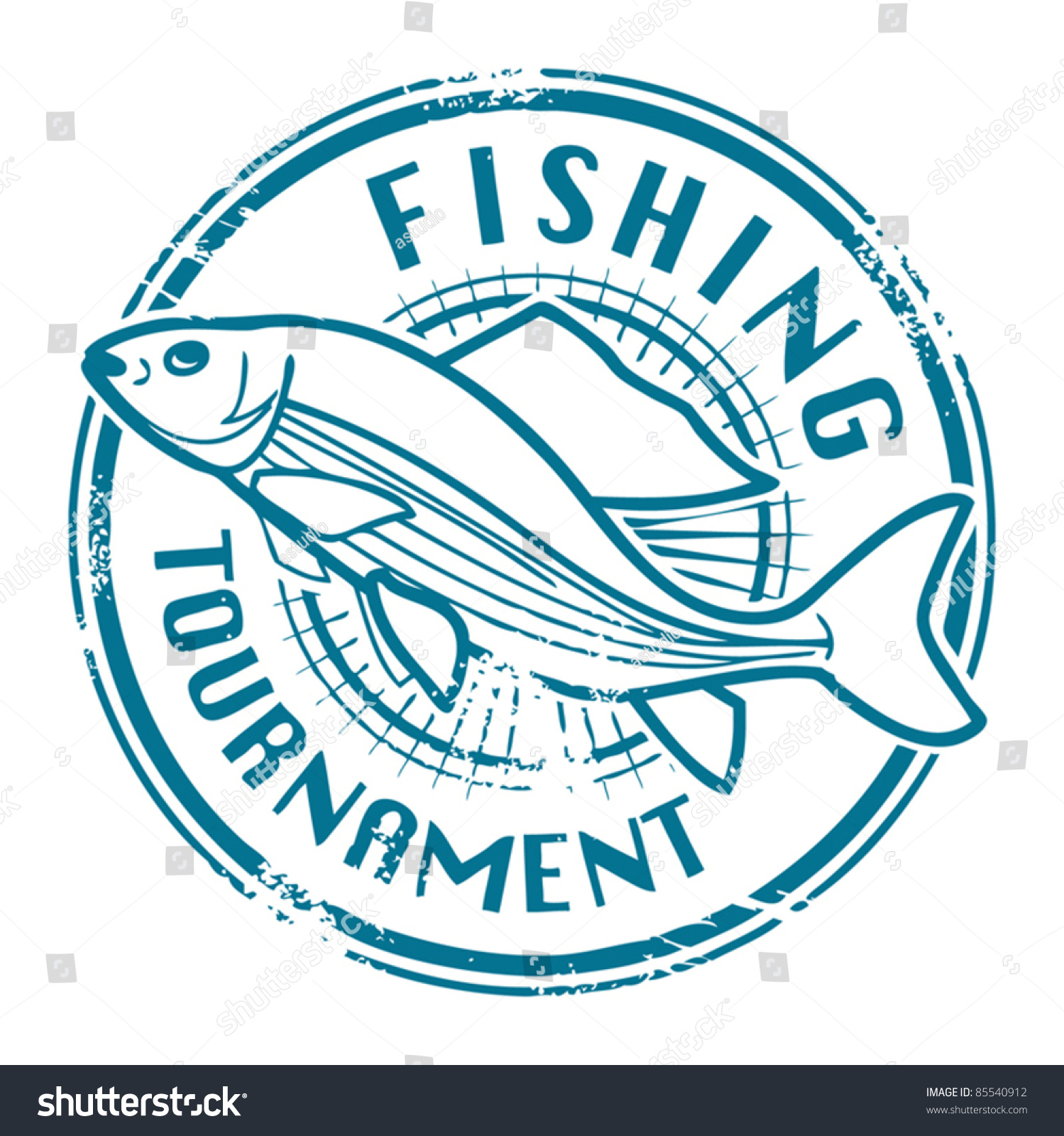 Grunge rubber stamp fish shape text stock vector 85540912 for Fish symboled stamp