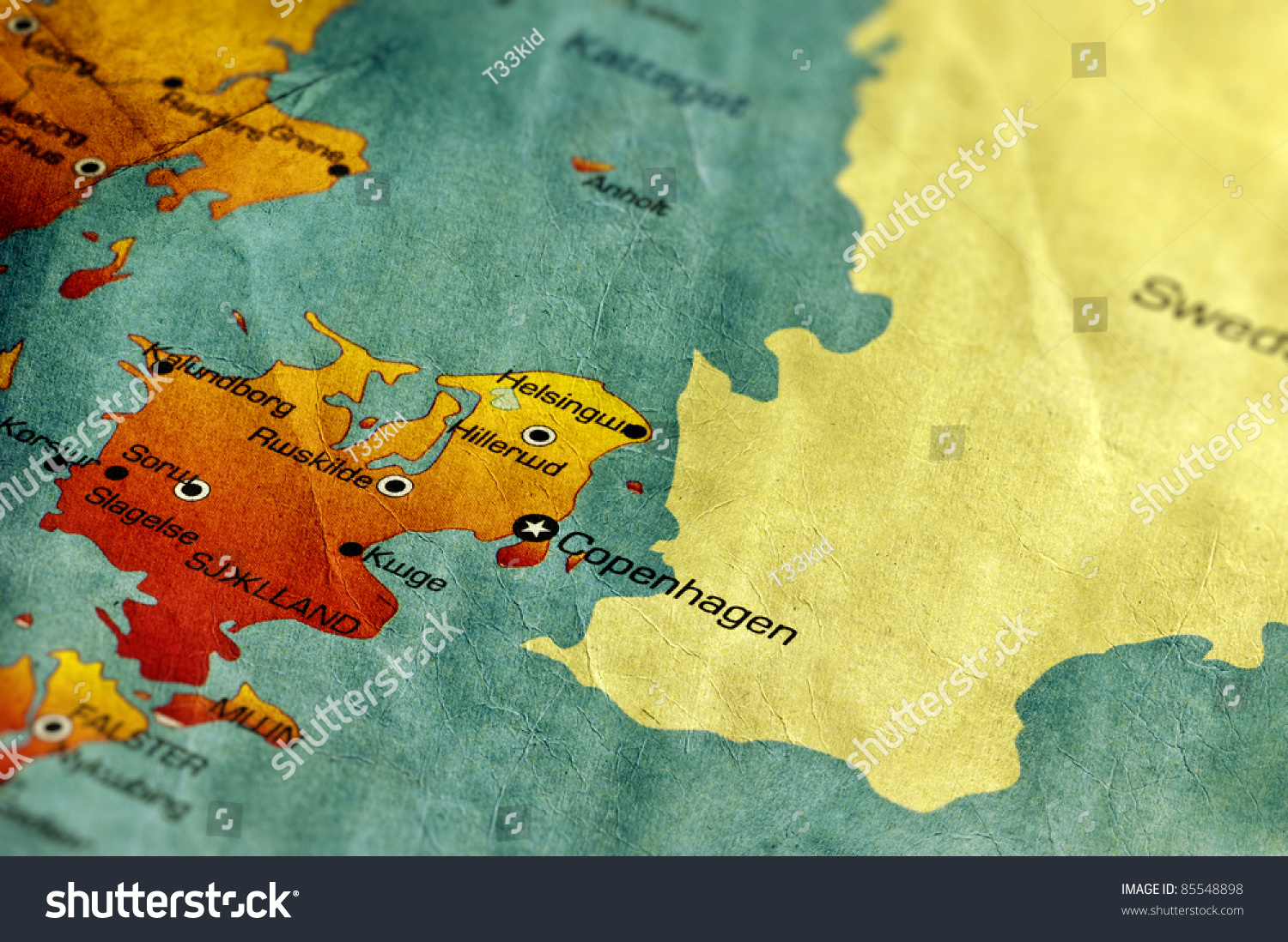 Ancient world map denmark stock photo 100 legal protection ancient world map of denmark gumiabroncs Choice Image