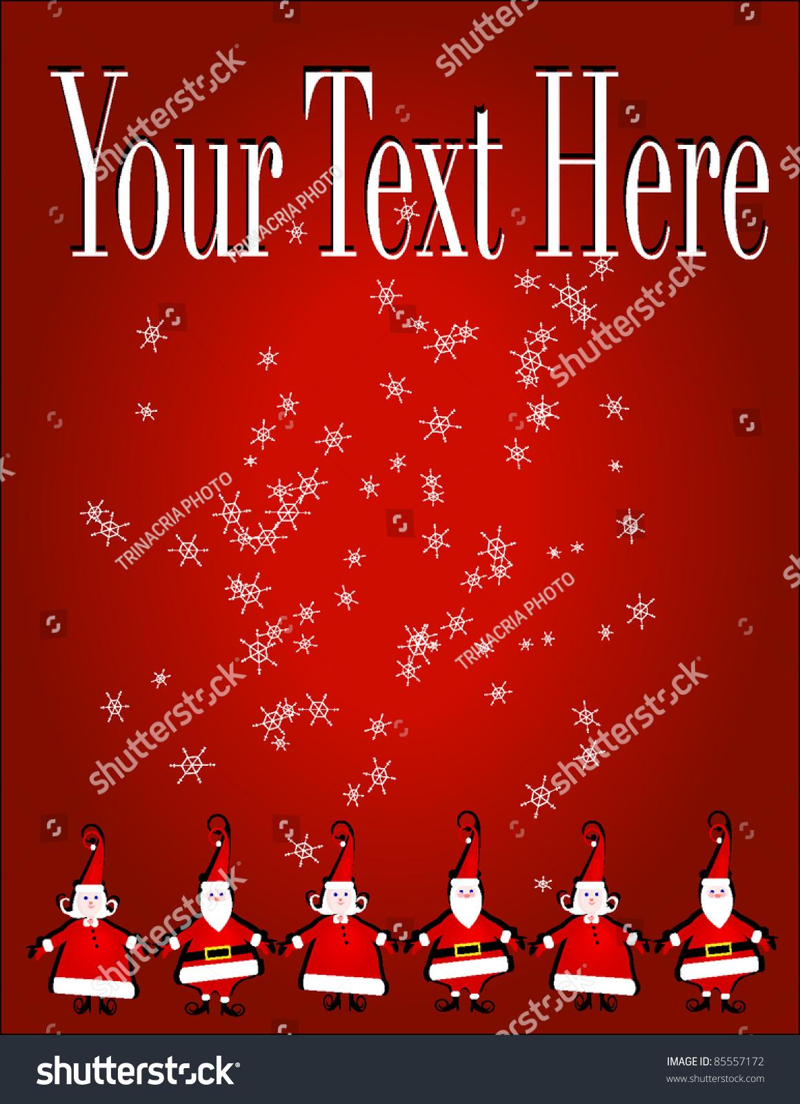 christmas invitation flyer or background santa claus elf christmas invitation flyer or background santa claus elf types stock vector 85557172 shutterstock