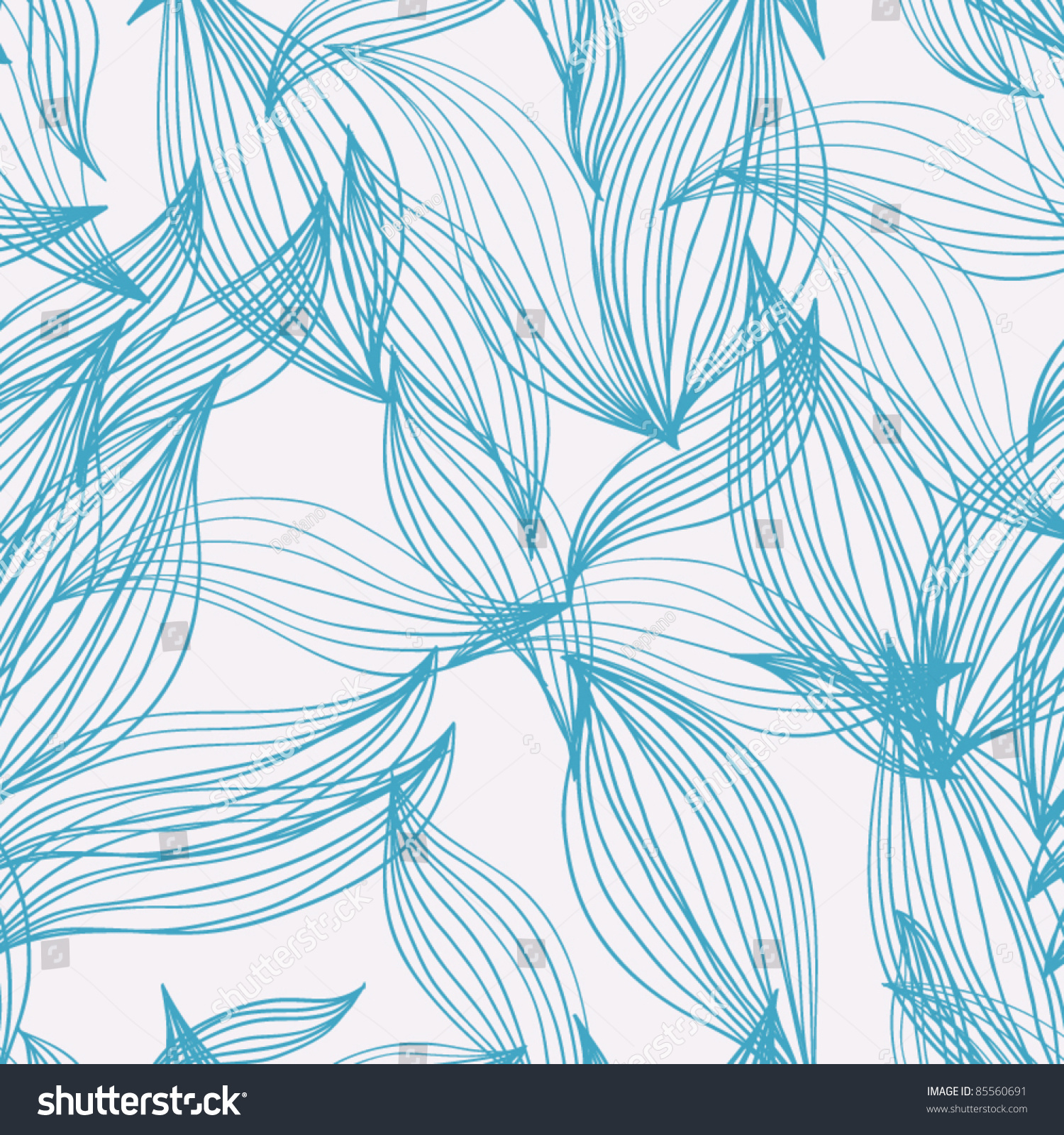 Colorful Seamless Abstract Winter Pattern, Waves