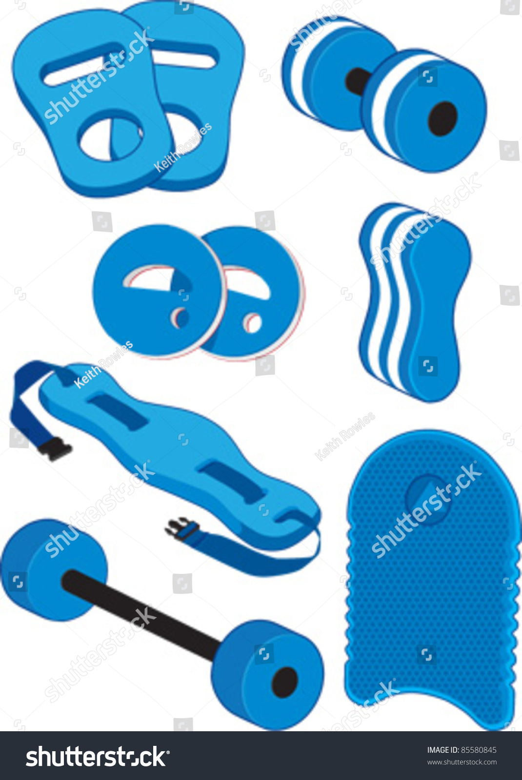 Aqua Fitness Swimming Aids And Water Aerobics Equipment For Water Workouts And Swimming Pool