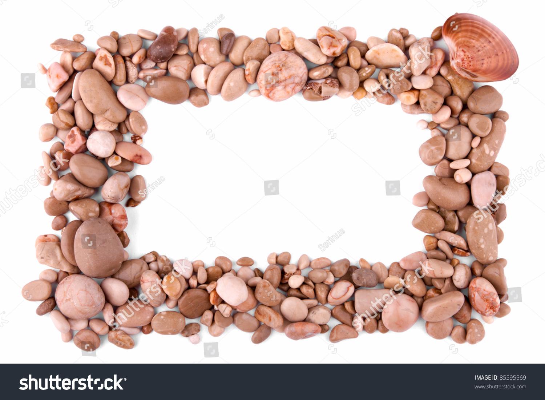 Frame Made Pebble Rocks Pebble Frame Stock Photo (Edit Now) 85595569 ...