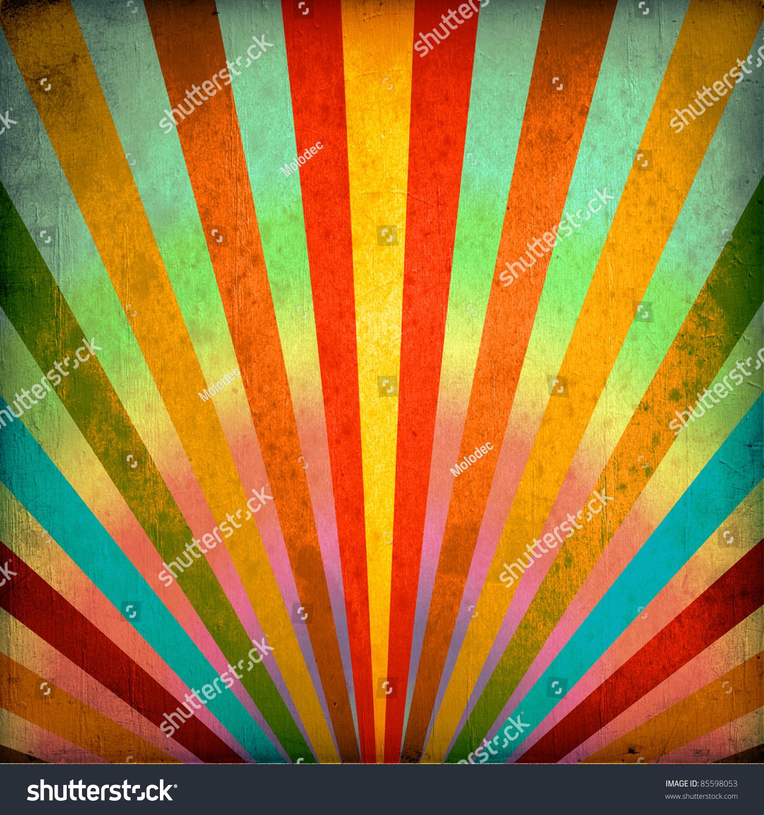 Multicolor Sunbeams Grunge Background Vintage Poster Stock ...