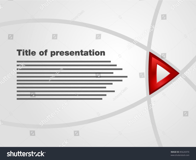 template flash interactive presentation title red stock vector, Presentation templates