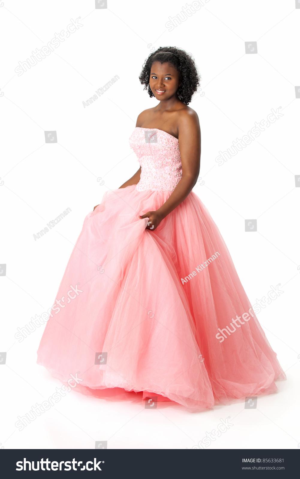 Beautiful African American Haitian Teen Girl Stock Photo 85633681